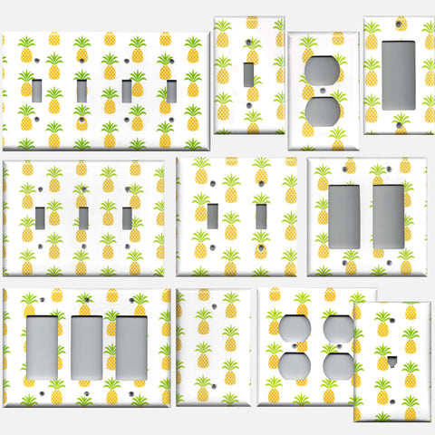 Tropical Pineapple Hawaiian Decor Light Switch Plates & Wall Outlet Covers