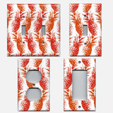Hawaiian Pineapples Red & Orange Tropical Decor Handmade Light Switch Plates & Outlet Covers