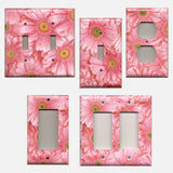 Fun Light Pink Daisies/Daisy Spring Flowers Light Switch and Outlet Covers - Simply Chic Gal