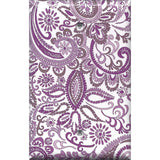 Single Blank Cover in Lavender Purple Mosaic Paisley Handmade- Simply Chic Gal