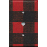 Cable Jack Cover in Red Black Buffalo Plaid Woodland Nursery Decor- Simply Chic Gal