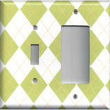 Diamonds Combo Light Switch and Rocker GFI Outlet Cover Handmade Home Decor