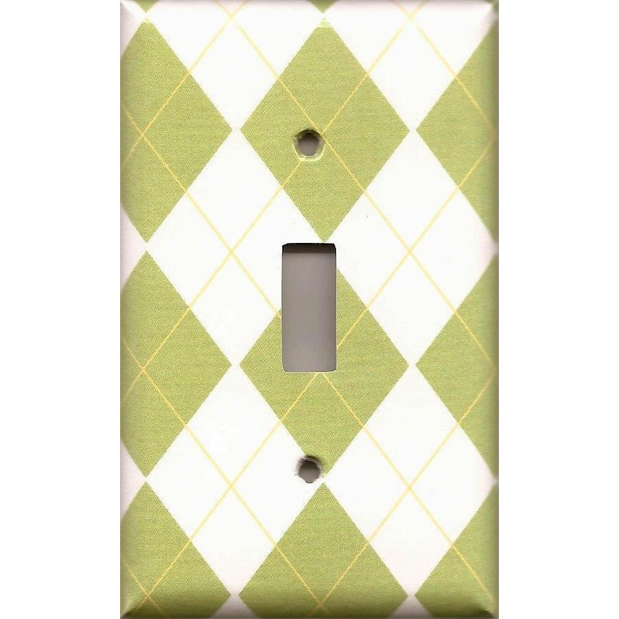 Diamonds Single Light Switch Plate Cover Handmade Home Decor