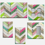 Shabby Chic Farmhouse Chevron Stripes Light Switch & Outlet Covers