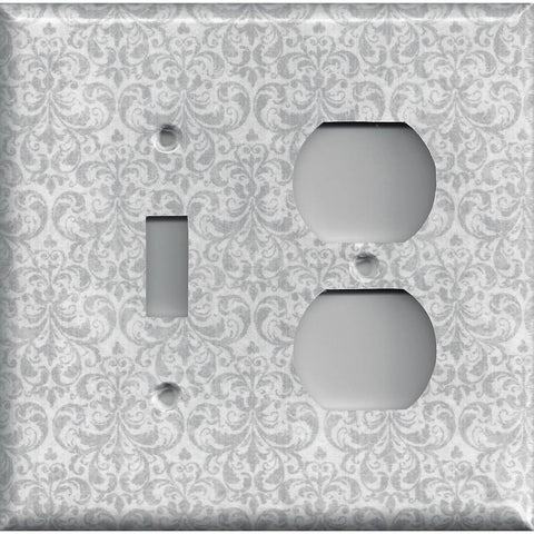 Silver//Gray//Grey /& White Houndstooth Hand Made Light Switch Plates//Outlet Covers