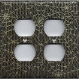 4 Plug Outlet Wall Cover in Halloween Gothic Spiderwebs Handmade- Simply Chic Gal