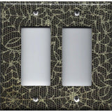 Double Rocker Decora Light Switch Cover in Halloween Gothic Spiderwebs Handmade- Simply Chic Gal