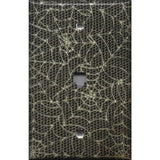 Phone Jack Cover in Halloween Gothic Spiderwebs Handmade- Simply Chic Gal