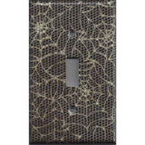 Single Toggle Light Switch Plate Cover in Halloween Gothic Spiderwebs Handmade- Simply Chic Gal