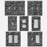 Slate Grey Stone River Pebbles Light Switch Covers & Outlet Covers