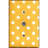 Cable Jack Cover in Deep Golden Yellow & White Polka Dots Simply Chic Gal