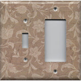 Combo Light Switch and Rocker GFI Outlet Cover in Farmhouse Decor Tan Brown Floral- Simply Chic Gal