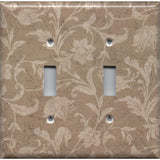 Double Toggle Light Switch Cover in Farmhouse Decor Tan Brown Floral Handmade- Simply Chic Gal