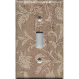 Single Toggle Light Switch Cover in Farmhouse Decor Tan Brown Floral Handmade- Simply Chic Gal