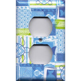 Wall Outlet Plate Cover in Blue Tropical Island Fish & Sea Turtles