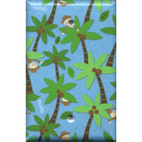 Single Blank Cover in Tropical Island Monkeys Palm Trees Handmade- Simply Chic Gal