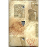 Phone Jack Cover in Whitetail Deer Log Cabin Decor
