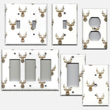 Rustic Farmhouse Woodland Deer Head Light Switch Cover & Outlet Covers