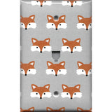 Woodland Foxes Gender Neutral Nursery Decor Light Switch Plates & Wall Outlet Covers