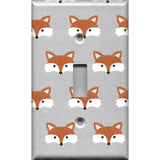 Single Toggle Light Switch Cover in Woodland Foxes Nursery Decor Handmade- Simply Chic Gal