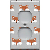 Wall Outlet Cover in Woodland Foxes Nursery Decor Handmade- Simply Chic Gal