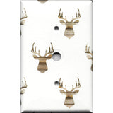 Cable Jack Cover in Rustic Farmhouse Woodland Deer Head Print