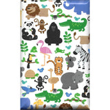 Single Blank Cover in Zoo Jungle Animals Nursery Decor Handmade- Simply Chic Gal