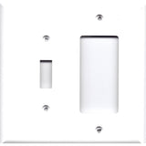 Combo Light Switch and Rocker GFCI Outlet Cover