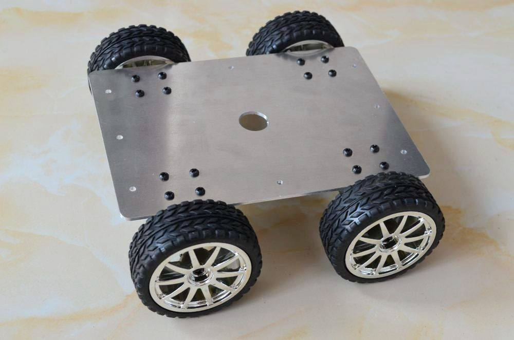 25 aluminum alloy Metal Robot Car 4WD with 4 motor