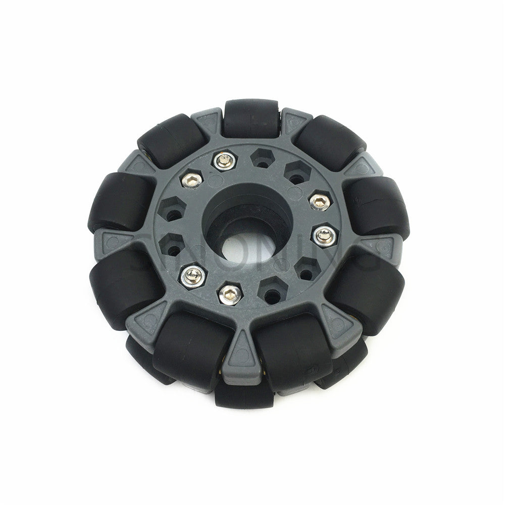 100mm Omni-directional wheel 4 inch for Robot Competition Robocup/Robocon/DIY/Robot Study with Metal Hub