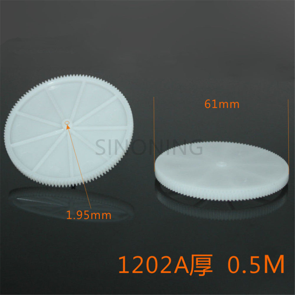 60mm thick toothed single layer spindle gear plastic toy gear