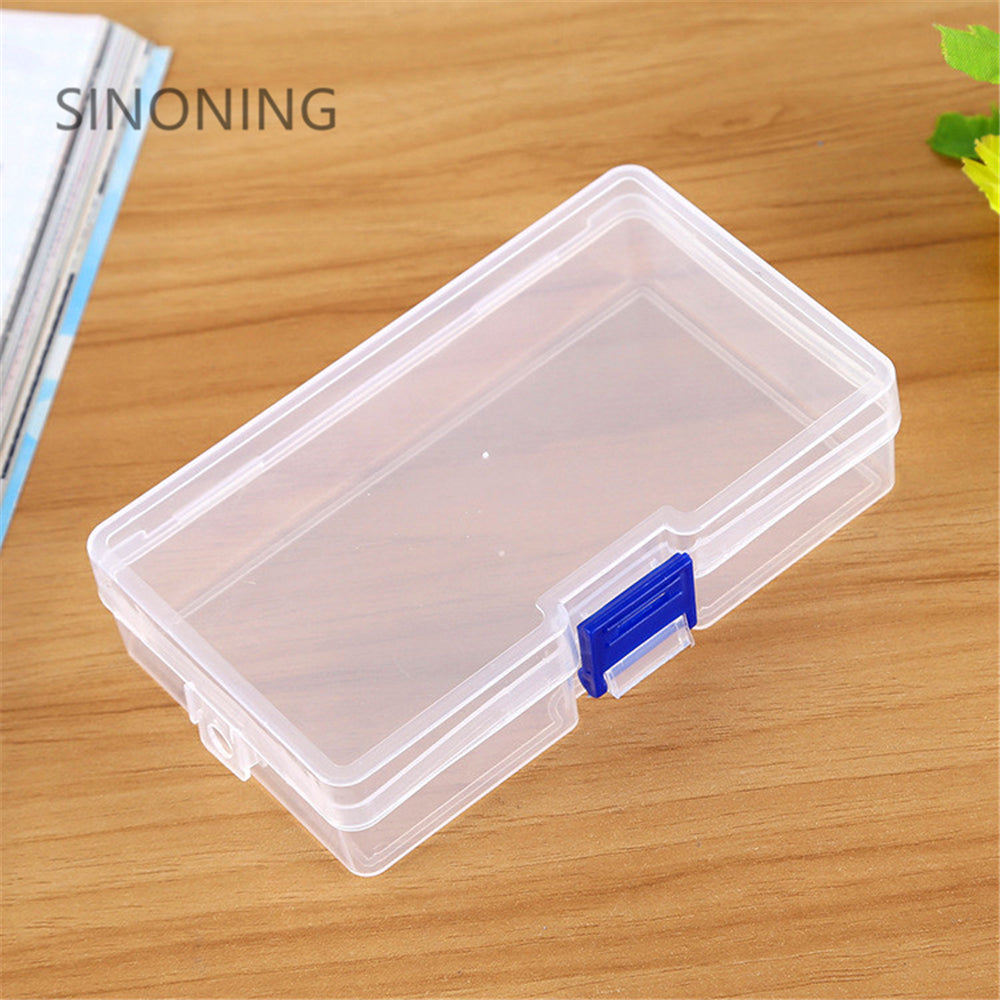 PP transparent plastic lock box small accessories jewelry portable parts empty boxes PP lock box