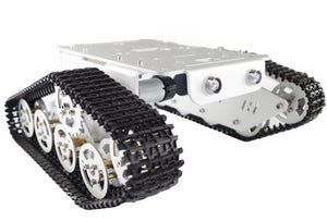 aluminum Robot Tank Car Metal Chassis with 9v Speed Encoder Motor for Arduino Raspberry Pi