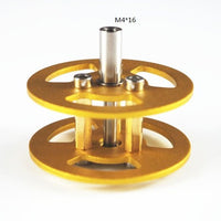 driven pulley Aluminum Alloy Metal Bearing Wheel for Robot Tank Chassis Silver/Golden