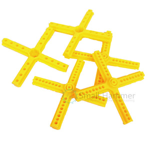 50PCS Yellow cross bar Double cross bar Technical building block parts