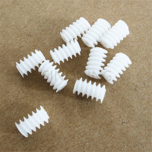 White Right Hand Plastic 6*10 (2A) motor Worm Turbine 0.5 Module Reduction Gears DIY Model Parts