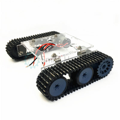 Acrylic tank robot chassis DC9-12V tracked vehicle DIY arduino kit