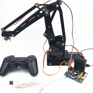 Arduino 4dof robot arm ABB industrial palletizing stainless steel remote control PS2