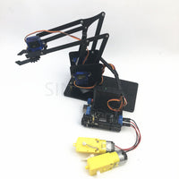 4 DOF remote control PS2 robotic arm aluminum alloy sg90 arduino robot assembly