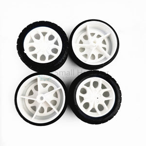 10pcs Diameter 30mm Tires Rubber Toy Car Wheel Part DIY model accessories