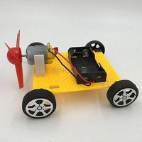 DIY electronic Wind Driven Toy Car assembly education creativity cheap age 3+