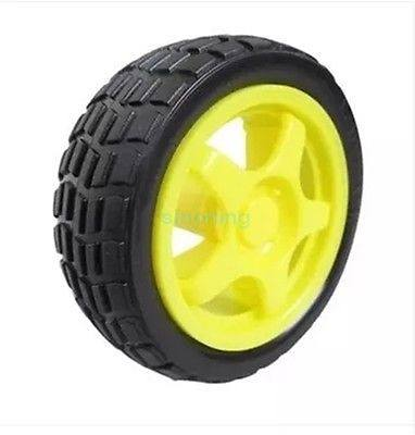 1pc Smart Car Model Robot Plastic Tire Wheel 65x26mm for arduino - SINONING