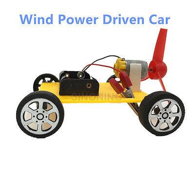 Diy Electronic Wind Driven Toy Car Assembly Education Creativity