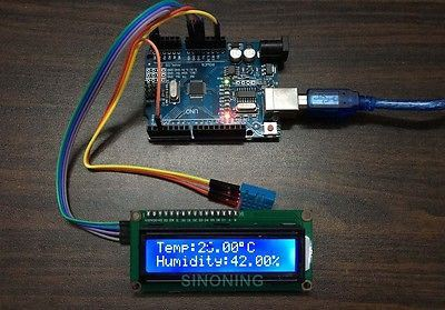 Arduino+LCD1602/I2C+DHT11 hygrothermograph thermometer DIY kit