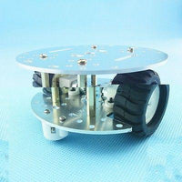 MINI 2WD 2Layer Metal aluminium alloy Smart Robot Car Chassis For Arduino
