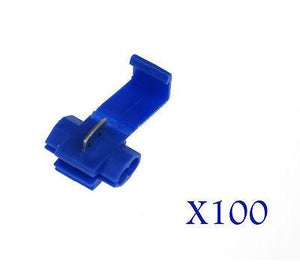 100PCS Scotch Crimp Electrical Lock Wire Connectors Quick Splice Terminals