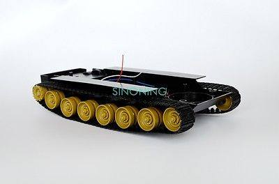 Cheap Smart Robot Tank Car Chassis Kit DIY toy Yellow track SCM for Arduino SN300