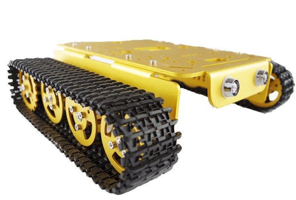 Rugged Anodizing Aluminum  Metal Tank Robot Caterpillar Chassis for Arduino