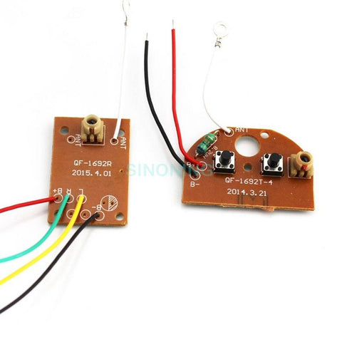 Two-way 2CH remote control 27MHZ radio channel module transmitter+receiver