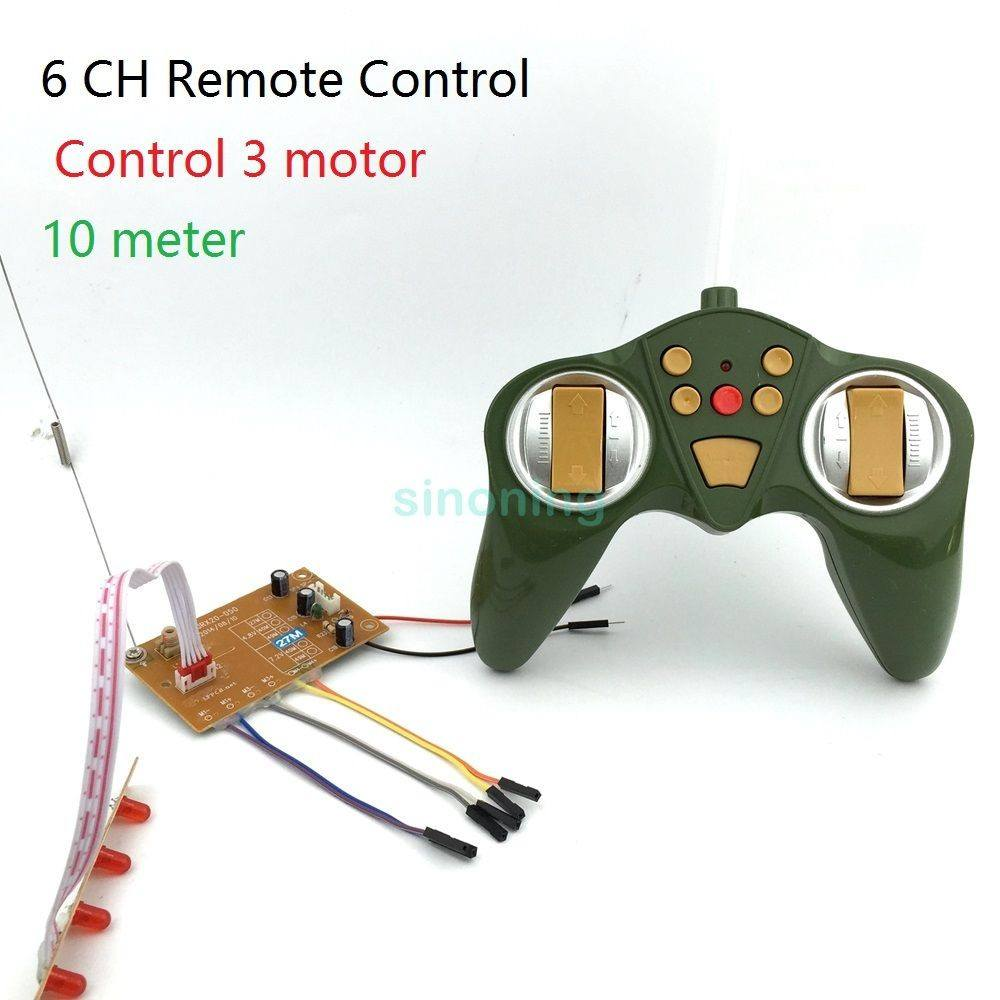 6CH 27Mhz RC Remote control module transmitting & receiver for car tank model